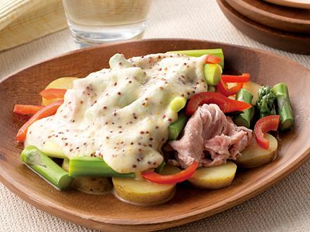 豚肉と春野菜のホットサラダ