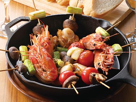 海鮮串焼きアヒージョ