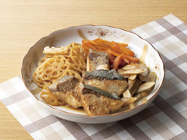 ぶりの梅香煮の完成写真