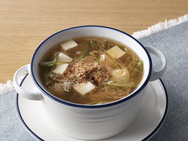 釜揚げしらすの香味スープの完成写真