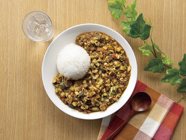 カラフル野菜のキーマカレー風の完成写真