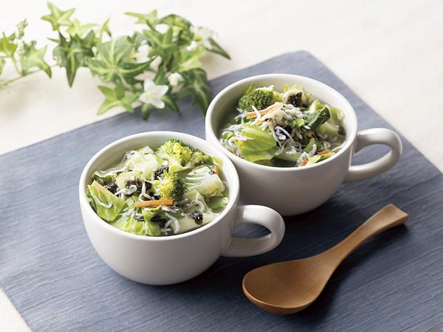しらすの磯の香りスープの完成写真