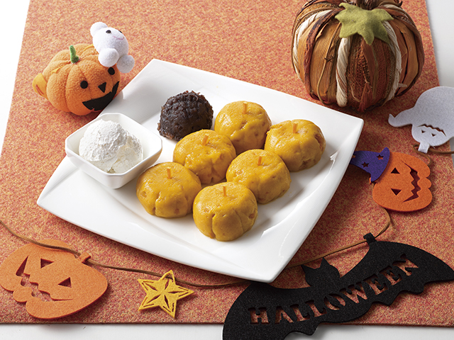 かぼちゃ白玉の完成写真