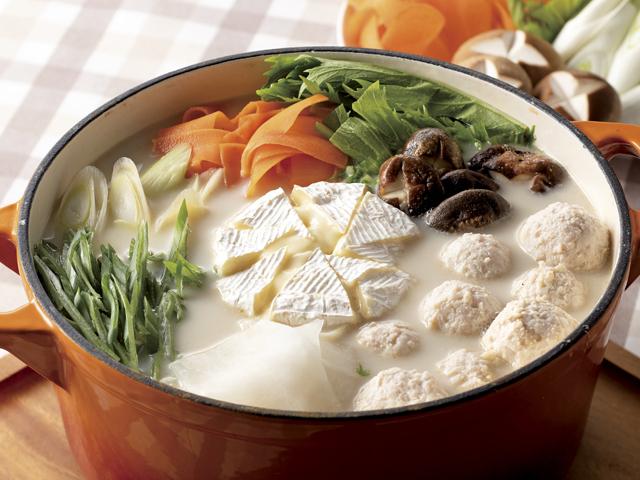 丸ごとカマンベールチーズ鍋の完成写真