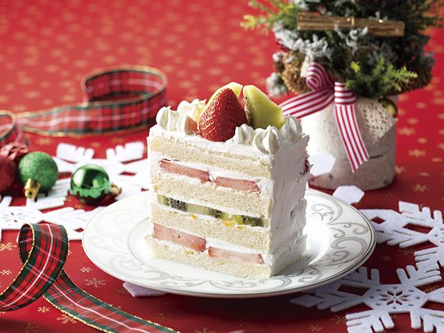 食パンクリスマスケーキの完成写真