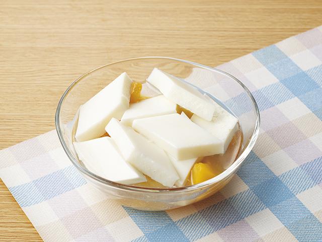 フルーツたっぷり杏仁豆腐の完成写真