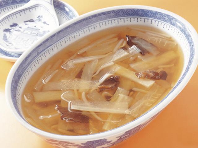 大根ともやしのスープの完成写真