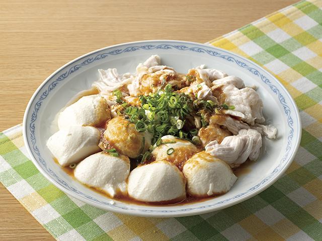 ささみと豆腐のよだれ鶏風の完成写真