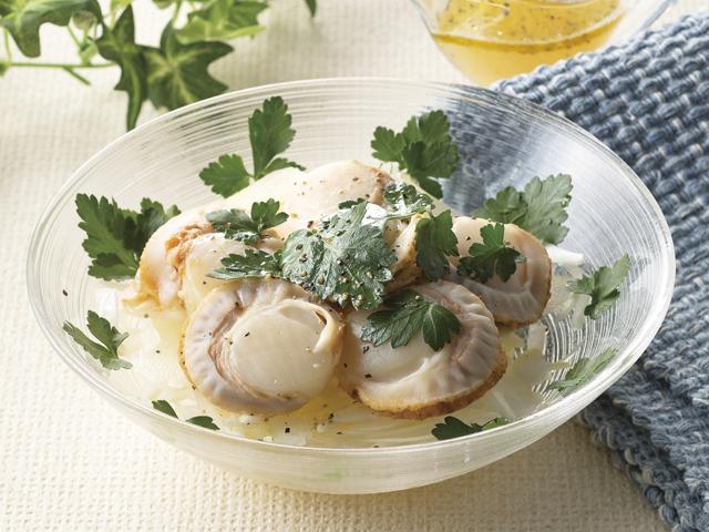 ホタテとセロリのレモン塩サラダの完成写真