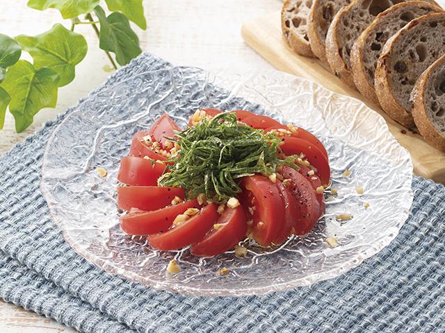 トマトの大葉サラダの完成写真