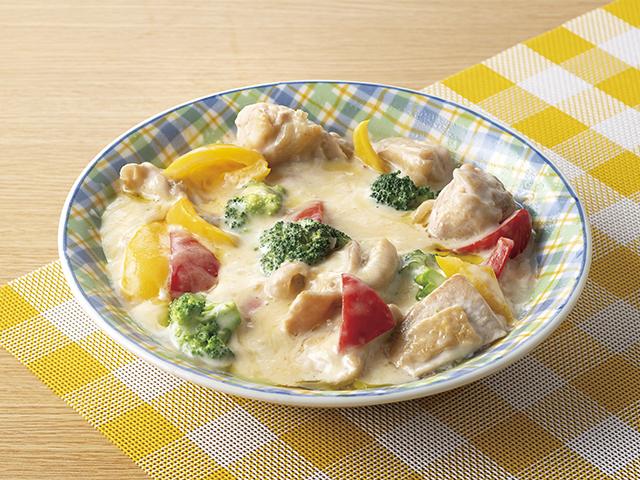 鶏もも肉のチーズクリーム煮の完成写真