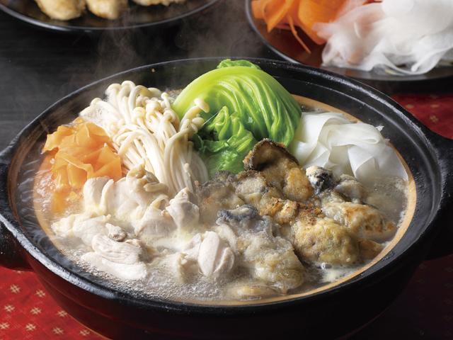 かきの塩バターちゃんこ鍋の完成写真