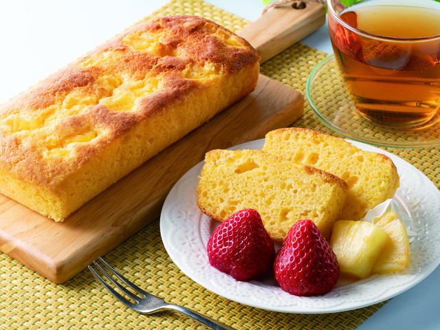 パイナップルのパウンドケーキの完成写真